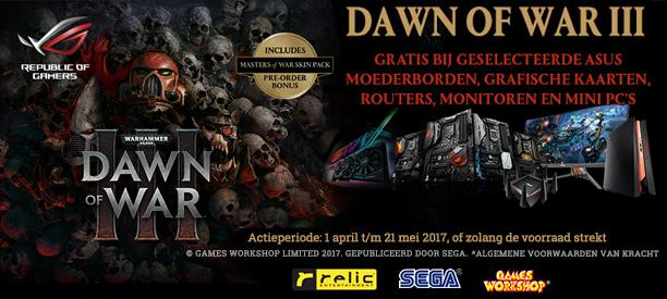 Gratis Dawn of War 3 bij een selectie asus producten