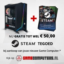 <strong style=color:red>GRATIS</strong> tot 50 Euro aan STEAM tegoed!