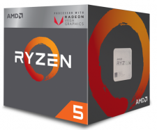 AMD Ryzen 5 2400G (4x 3600MHz - Turbo 3900MHz)