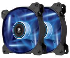 Corsair AF120 Quiet Edition (2x Blauwe LED Fans)