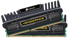 8GB DDR3 1600Mhz (Corsair Vengeance - Dual Channel)
