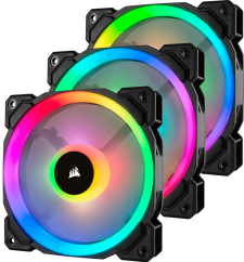 Corsair LL120 RGB LED (3x <strong style=color:red>R</strong><strong style=color:green>G</strong><strong style=color:blue>B</strong> LED Fans)