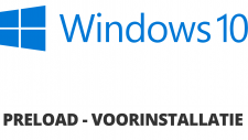 Windows 10 64bit Preload / Voorinstallatie