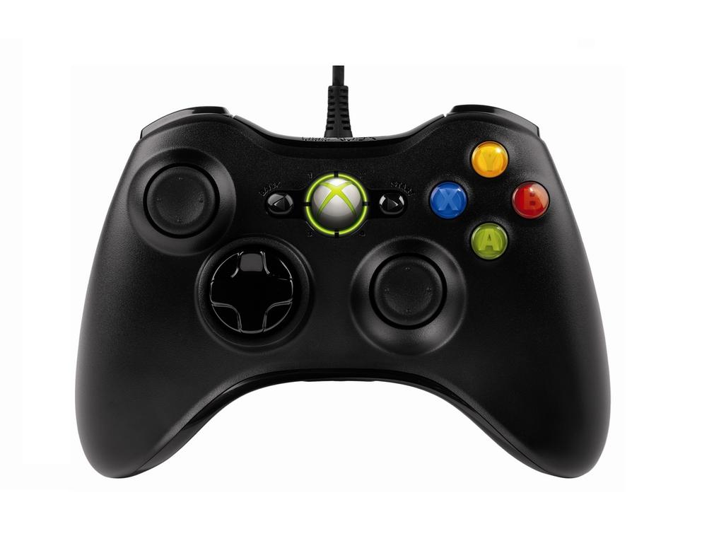 Microsoft Xbox 360 Wired Controller Zwart